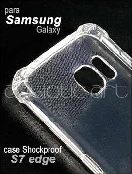 A64 Case Protector Samsung Galaxy S7 Edge Transparente New
