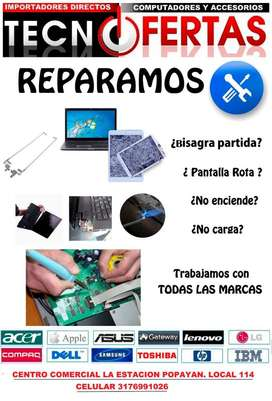 REPARAMOS COMPUTADORES DE ESCRITORIO, PORTATILES Y TABLET