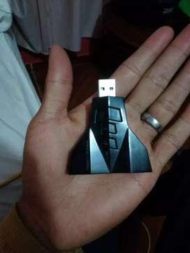 Tarjeta de sonido externa 7.1 {USB} NEGOCIABLE