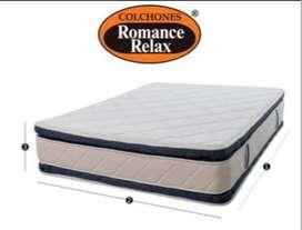 VENDO COLCHON ROMANTIC RELAX CON SOMIER 1.20