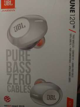 Audífonos JBL Inalámbricos Bluetooth In Ear T120 TWS blanco