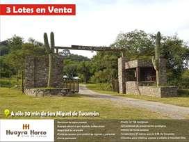Vendo 3 lotes en Huayra Horco, Raco. USD 5,00 x m2
