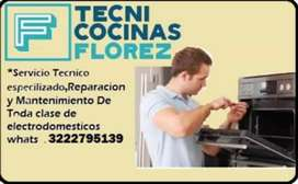 Servicio tecnico especializado en cocinas, freydoras, hornos, etc servicio a domicilio, garantía servicios a todo cucuta