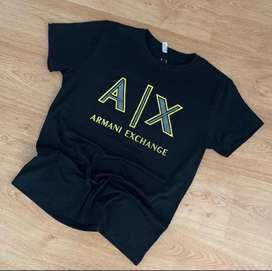 Camiseta armani exchange alto relieve