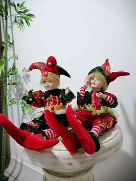 Arlequines niños navideños