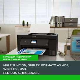 Impresora multifuncion Epson ecotank l14150 formato A3 wireless USB con ADF Duplex
