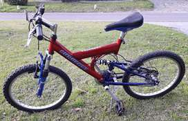 Bicicleta R20 Mountain Bike doble amortiguación