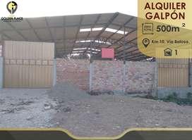 Galpón de Alquiler para Taller, en Zona Sur de Machala.