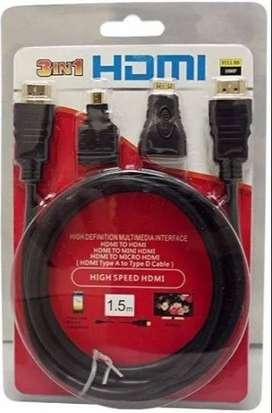 cable hdmi 3 en 1