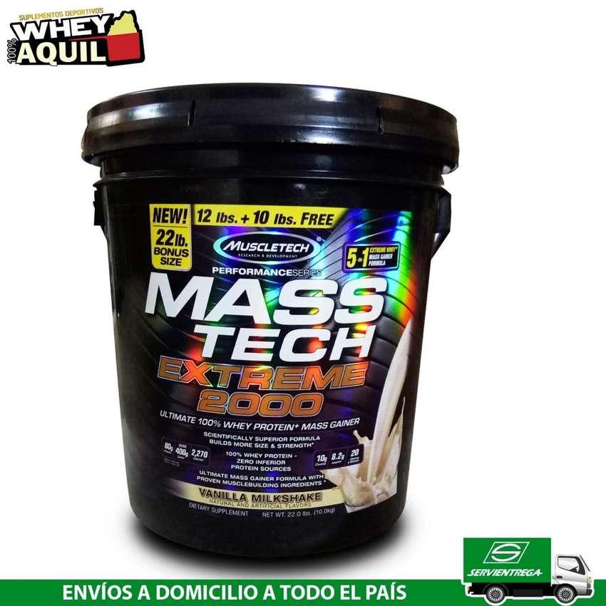 MassTech Whey Proteina Ganador de Masa 22 libras 0