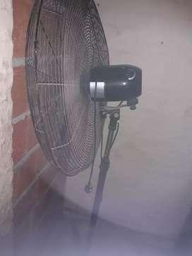 Permuto ventilador x mesa de algarrobo y sillas