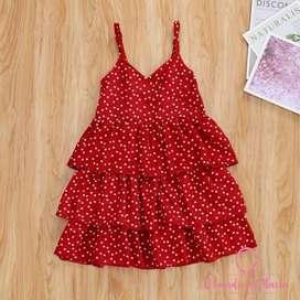 Vestido Rojo Corazones