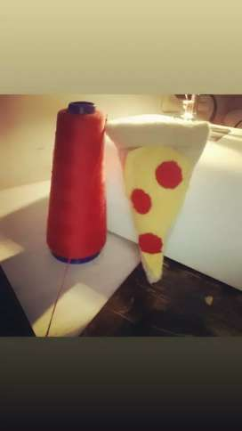 Pizza iman para heladeras