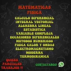 METODOS NUMERICOS ALGEBRA ECUACIONES DIFERENCIALES ESTADISTICA CALCULO FISICA MECANICA CALOR Y ONDAS ELECTROMAGNETISMO