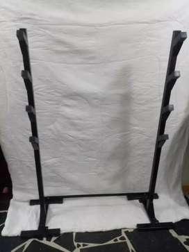 Rack o soporte para barra y pesas