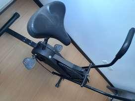 Bicicleta estática y elíptica