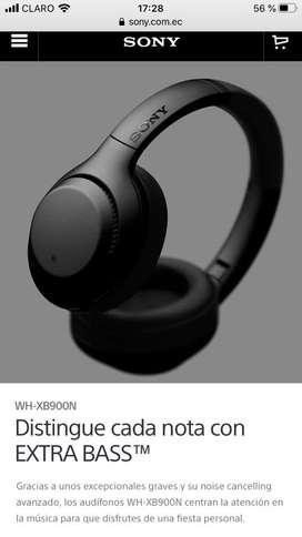 Audifonos Sony WH-XB900N, con cancelacion de voz,bluetooth EN OFERTA