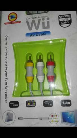Wii cable audio y video