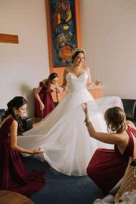 Lindo vestido de novia Mori Lee Bridal