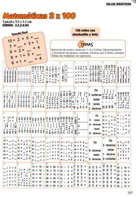 Sellos Didácticos Matemáticas 2 X 100
