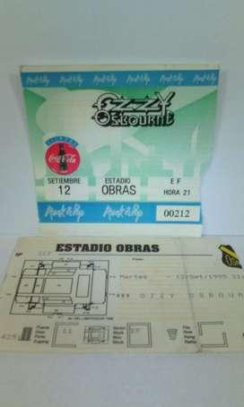 Ozzy Osbourne entrada Estadio Obras 12/9/19955 De colección
