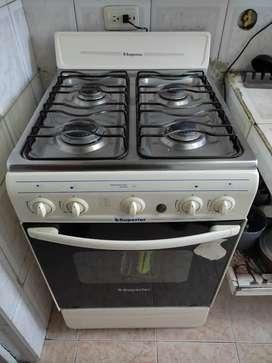 Estufa a gas con horno superior