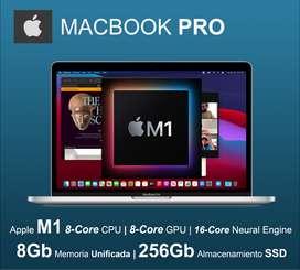 """Apple MacBook PRO CHIP M1 13"""" 256Gb 8Gb Nuevas Selladas Garantía Seguridad Oficina STOCK HOY!"""