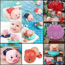 Los juguetes perfectos para tu bebé, Cerditos Nadadores a cuerda para Bañera o piscina