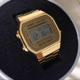 Reloj Casio a168wg gold