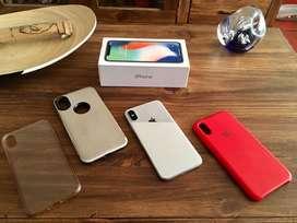 iPhone X Silver 64 Gb + fundas