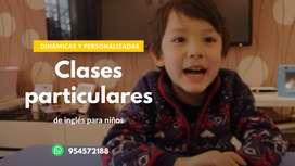 Clases Particulares de Inglés para NIÑOS en Arequipa