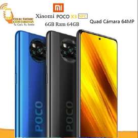 XIAOMI POCO X3 NFC 64GB 6GB Ram  Snapdragon 732G NUEVO Y ORIGINAL TIENDA FISICA