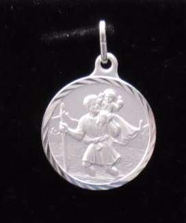 Medalla en plata 925 San Cristóbal