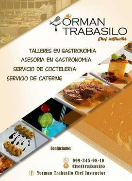 Servicio de catering y talleres.