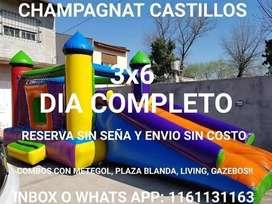 Alquiler pelotero castillo inflable metegol tejo