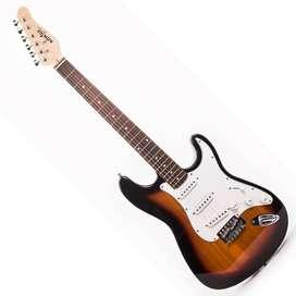 Guitarra Konige LAST32SB Music Box Colombia electrica Stratocaster Sunburst