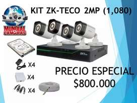 Kit de camaras de seguridad 2mp