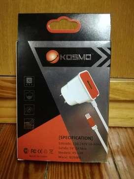 Cargador Rapido Viajero de pared 2A Kosmo USB boca EXTRA TIPO C Motorola One G7 G7 Plus G7 Power G7 Play