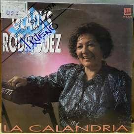 Disco vinilo Gladys Rodruiguez La calandria