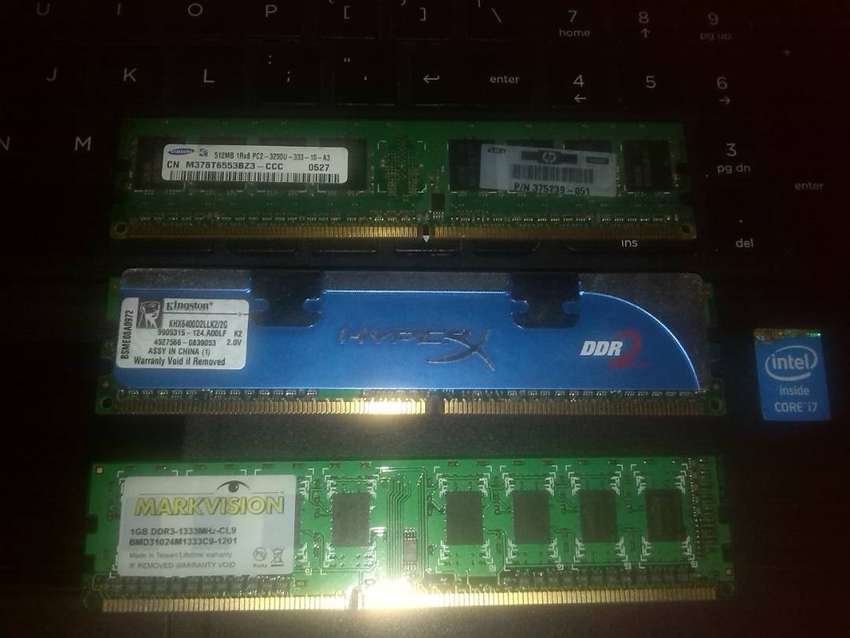 Memoria ddr3 1Gb y ddr2 2Gb 0