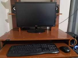 Potente PC completa + Parlantes y mueble de regalo!!!