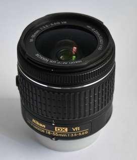 Lente Nikon Af-p Dx Nikkor 18-55mm F/3.5-5.6g Vr - Negro
