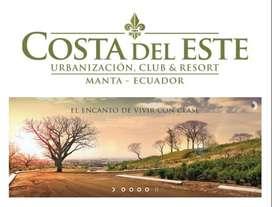 Se venden terrenos en Costa del Este Urbanizacion Club&Resort en Manta