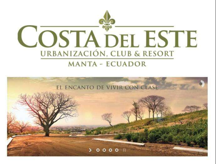 Se venden terrenos en Costa del Este Urbanizacion Club&Resort en Manta 0