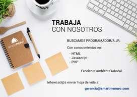 BUSCAMOS PROGRAMADOR WEB PARA NUESTRO EQUIPOS DE TRABAJO