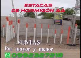 VENTAS DE ESTACAS DE HORMIÓN