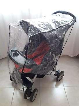 Vendo coche de bebé + colchoncito + protector para lluvia