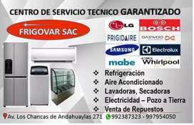 Servicio técnico especializado en lavadoras refrigeradoras congeladores secadoras Aires acondicionados