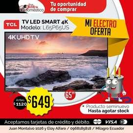 ⚠️(LIQUIDACIÓN) Tv Led Smart TCL 65' (Seminuevo) L65P65US
