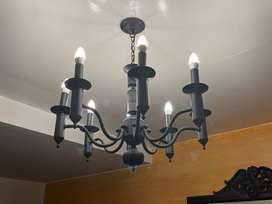 Lámpara colgante de 8 luces
